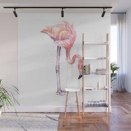Flamingo Painting Watercolor Wall Mural