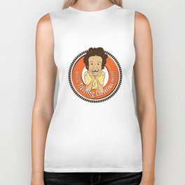 Traveling Christian Project Crest (canary) Biker Tank