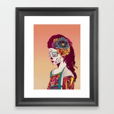 Mexican Skull Lady Framed Art Print