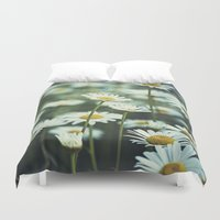 daisies Duvet Covers featuring daisies by Bonnie Jakobsen-Martin