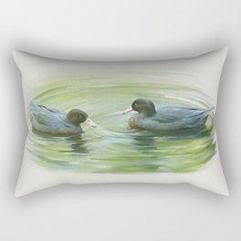 Blue Ducks in pond Rectangular Pillow