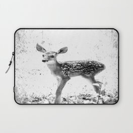 The Sweetest fawn Black & White Laptop Sleeve
