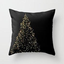 Edinburgh Christmas Tree  Throw Pillow