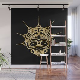 Gold Frog Ink Wall Mural