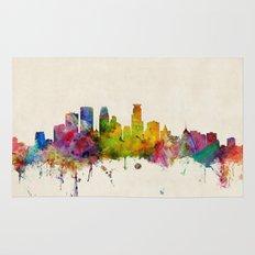 Minneapolis Minnesota Skyline Rug