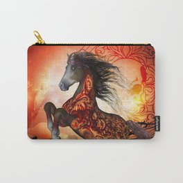 Awesome creepy running horse with skulls Carry-All Pouch