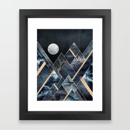 Stormy Mountains Framed Art Print