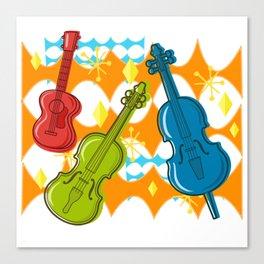Sunny Grappelli String Jazz Trio Composition Canvas Print