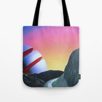 trip Tote Bags featuring Trip by Djuno Tomsni