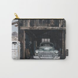 Old vintage car truck abandoned in the desert Carry-All Pouch