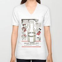 minnie mouse V-neck T-shirts featuring Old school mickey mouse / minnie Mouse / milk by tshirtsz