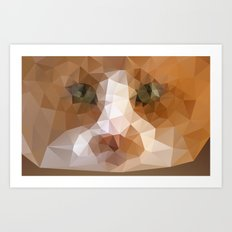 Triangle Cat Art Print