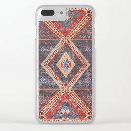 (N16) Boho Moroccan Oriental Artwork for Rustic and Farmhouse Styles. Clear iPhone Case