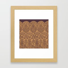 lace border stretched tonal Framed Art Print