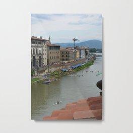 Florence - Arno with Kayak Water Polo Metal Print