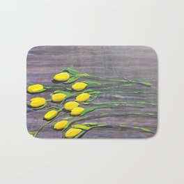 """Yellow Tulips"" Bath Mat"