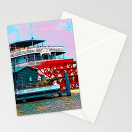 Natchez Riverboat New Orleans Stationery Cards
