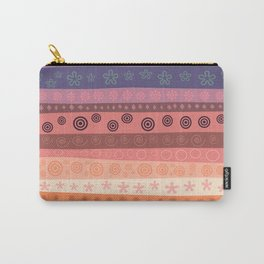 Abstract orange and blue Carry-All Pouch