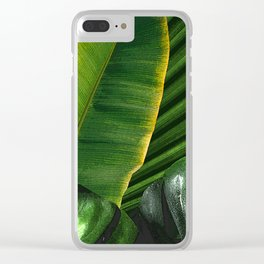 Luscious Topical Leaves. Clear iPhone Case