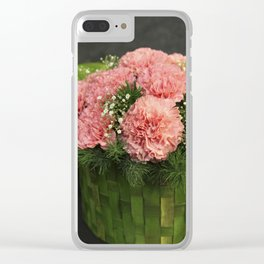 Box of Carnations Clear iPhone Case