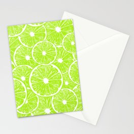 Lime slices pattern Stationery Cards