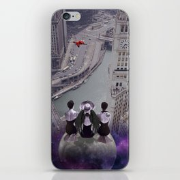 let's look down on everything from the super moon iPhone Skin