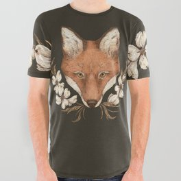 The Fox and Dogwoods All Over Graphic Tee