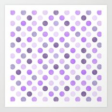 Watercolor Dots Pattern III Art Print