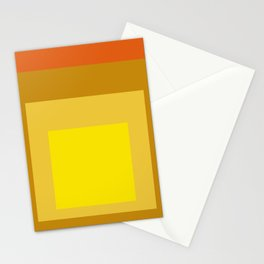 Block Colors - Yellow Gold Orange Stationery Cards