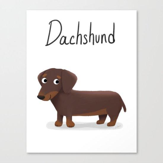 Dachshund - Cute Dog Series Canvas Print
