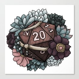 Monk Class D20 - Tabletop Gaming Dice Canvas Print