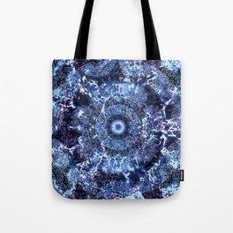 Iris Mandala Blue Tote Bag