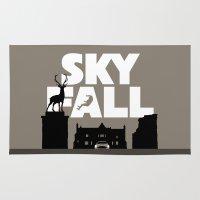 skyfall Area & Throw Rugs featuring SKYFALL by Vector Vectoria