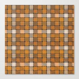 yellow basket weave plaid Canvas Print