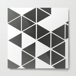 T R I _ N G L S (BLK) Metal Print