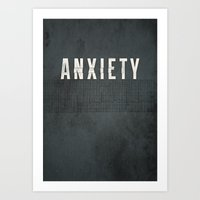 anxiety Art Prints featuring Anxiety by Eric Bryant