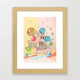 Oh Balls - Ch Typography Print Framed Art Print