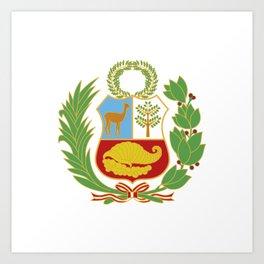 Peru Shield Art Print