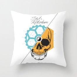 Skull'sReflections Throw Pillow
