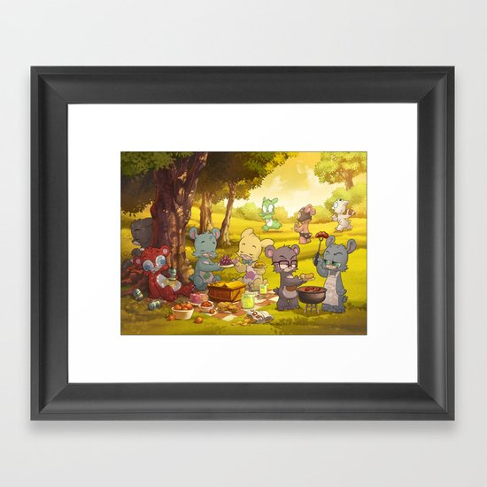 Picnic Framed Art Print