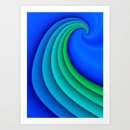 fluid -47- Art Print