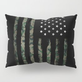 Khaki american flag Pillow Sham