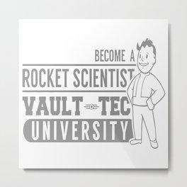 Vault Tec University Metal Print
