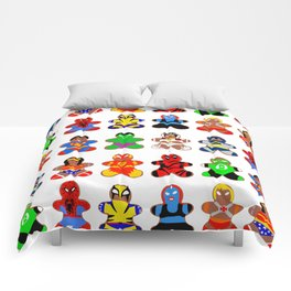 Superhero Gingerbread Man Comforters