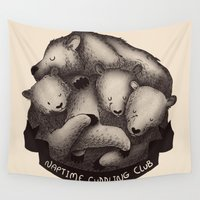 cuddle Wall Tapestries featuring Naptime Cuddle Club by Tobe Fonseca