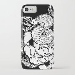 Snake Chrysanthemum iPhone Case