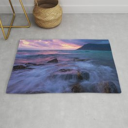 My Fantasy Ocean Sunset With Magical, Majestic Colors  Rug