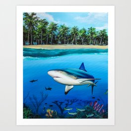 Palm Tree Reef Art Print