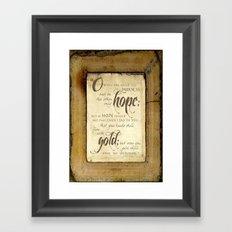 Only Hope Framed Art Print