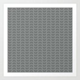 Neutral Gray Leaves Art Print